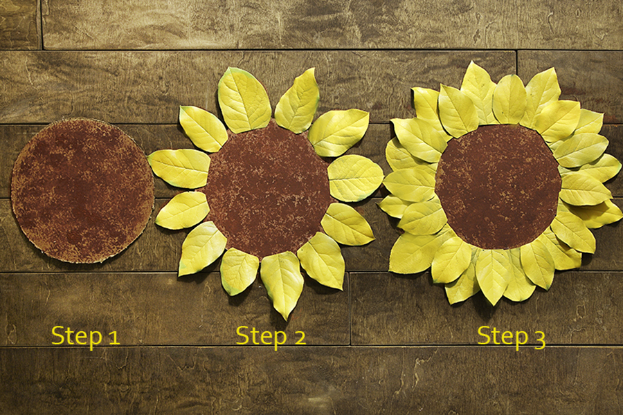 DIY Sunflower Placemats Step-by-Step