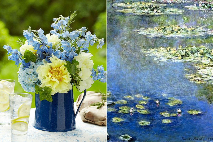 Flowers inspired by Claude Monet Painting