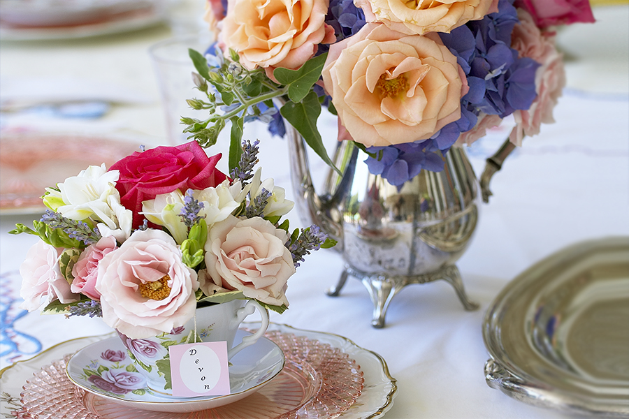 Tea Party Floral Centerpieces