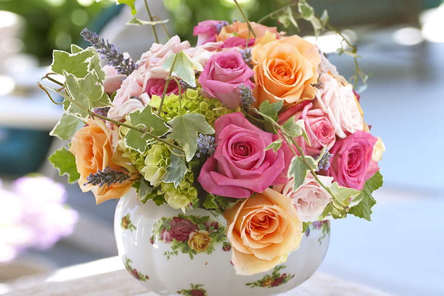 Tea Pot Flower Centerpiece