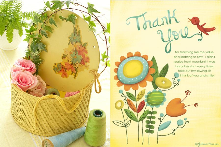 Sewing Basket Gift - Celebrations E-card