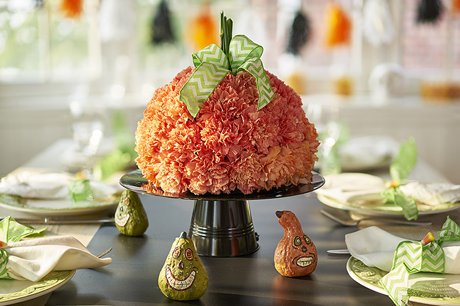 Flower Pumpkin Centerpiece