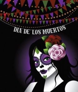 Day of the Dead Girl with Makeup