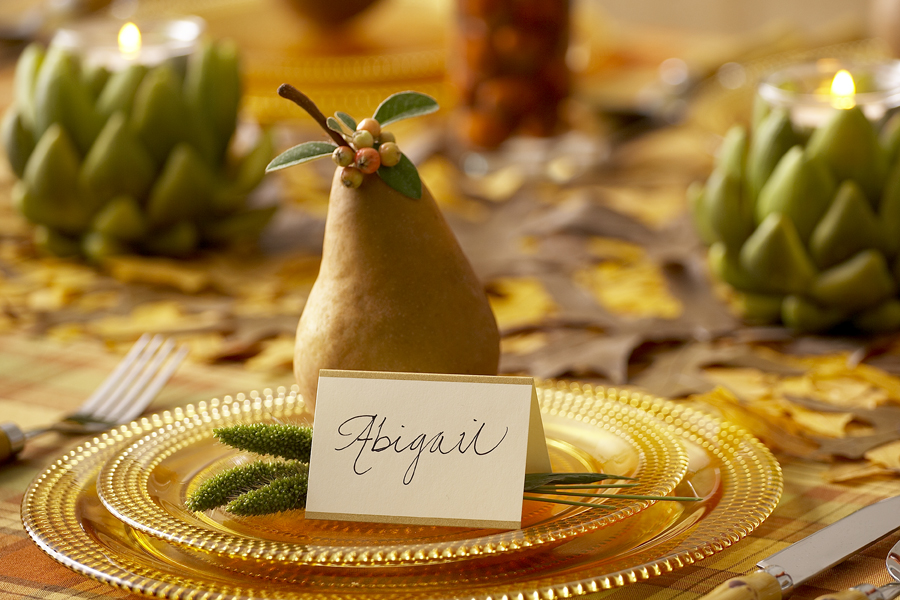 Pear Table Place Setting