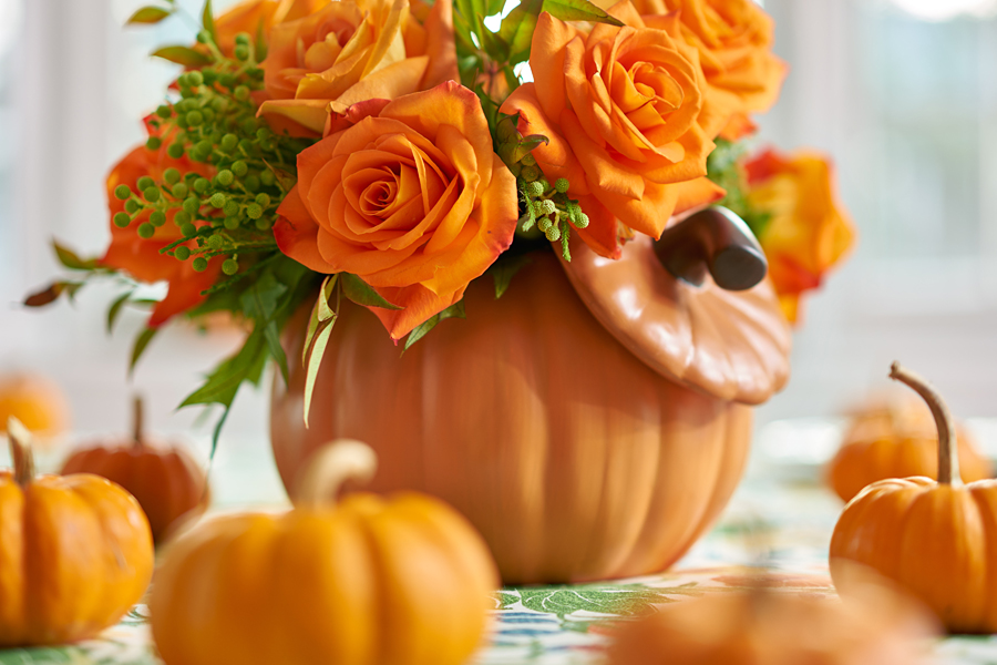 Pumpkin Vase Close-Up