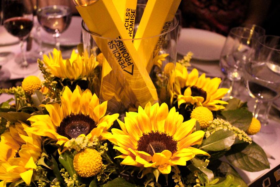 Sunflower Pencils of Promise Centerpiece