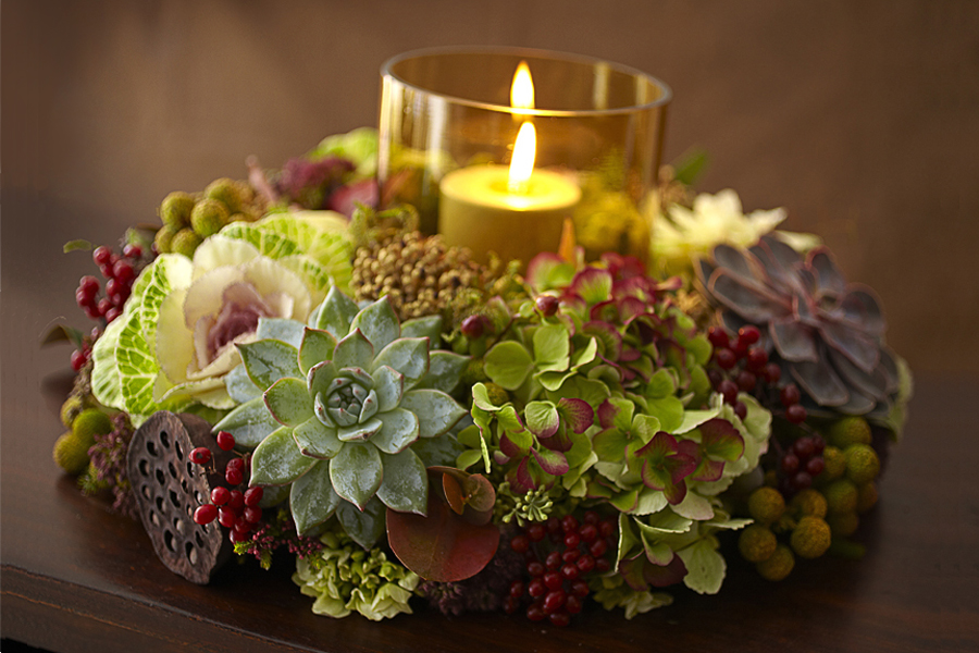 Succulent Wreath Centerpiece