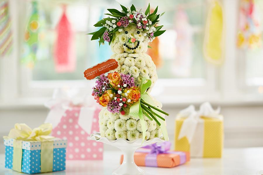 DIY Flower Snowlady