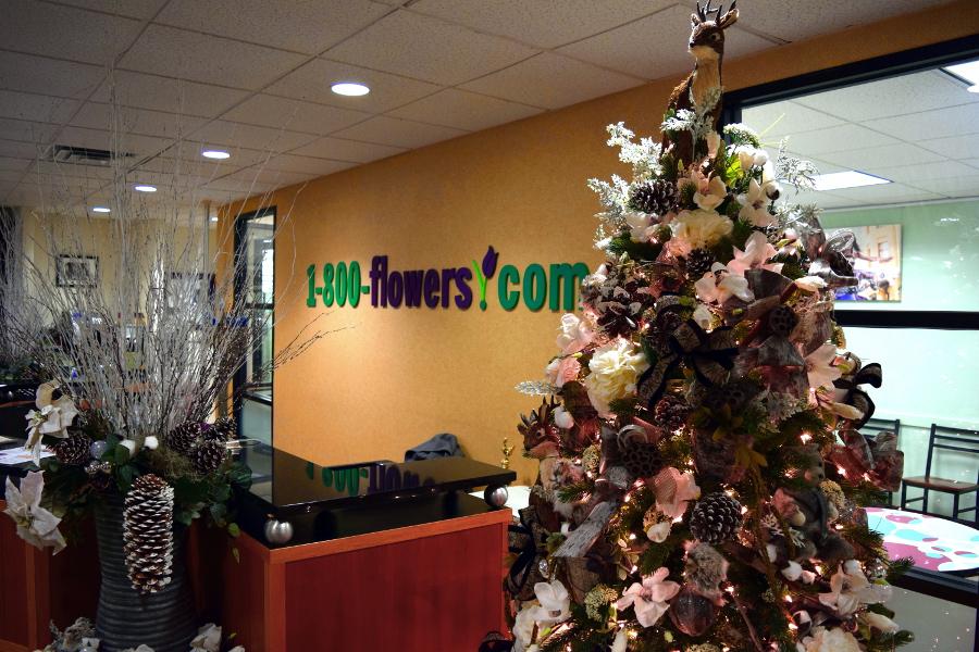 Christmas Tree in 1800Flowers.com Lobby