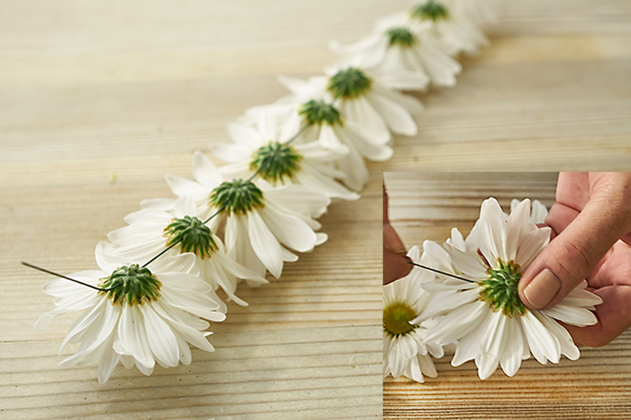 Hot Glue Daisy Flowers