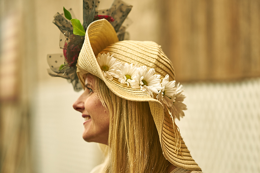 Kentucky Derby Daisy Brim Side View