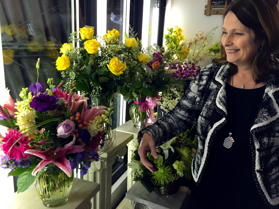 Margaret the florist in her shop
