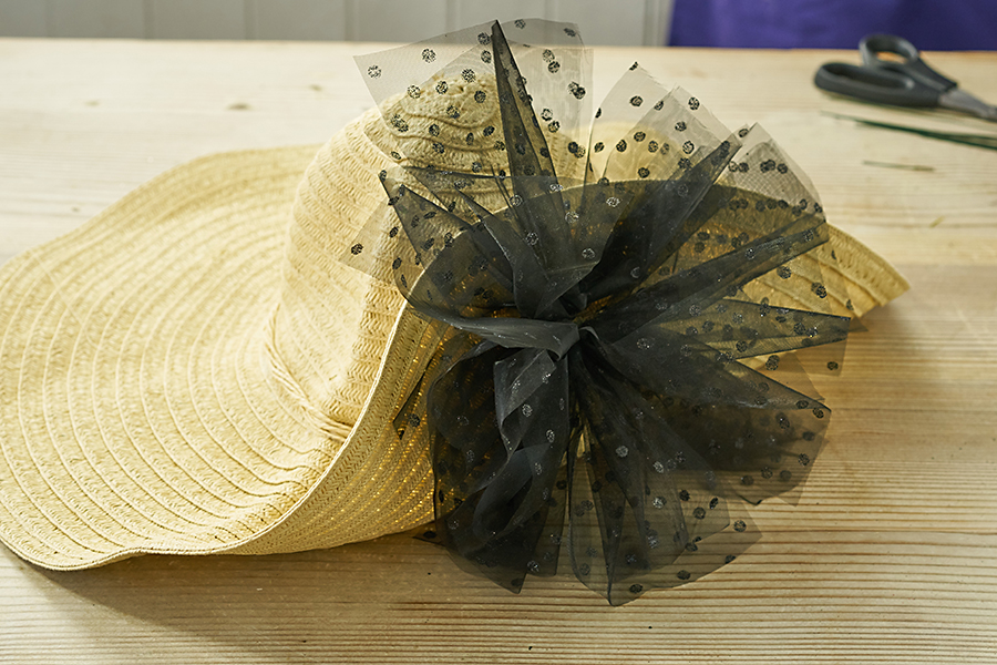 Tulle Pouf on Hat