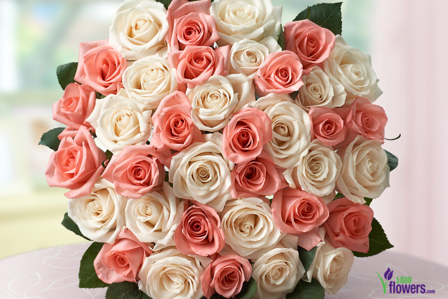 Mother's Day Pink & White Roses
