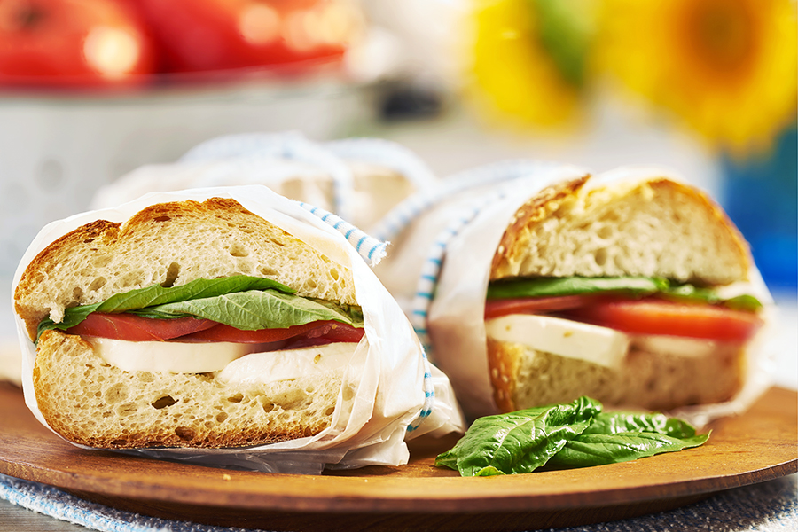 Caprese Sandwiches with Mozzarella, Tomato and Basil