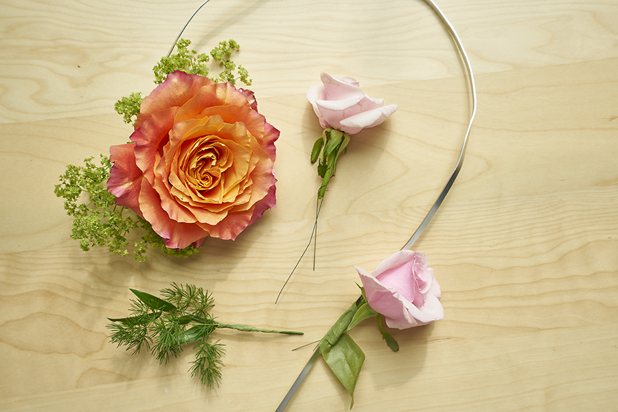 wrapping-flowers-onto-wire