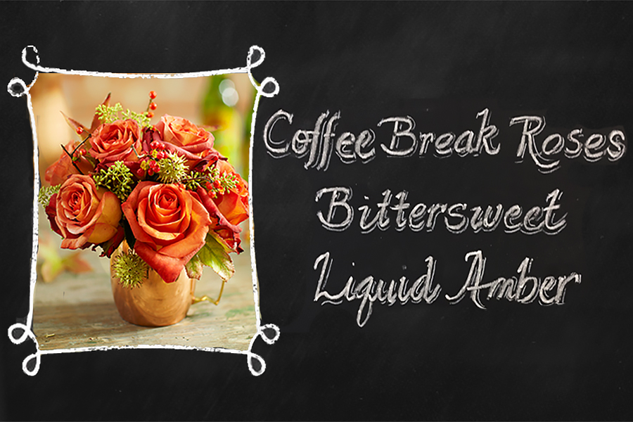 Coffee Break Roses Chalkboard Printout