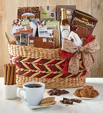 Coffee Gift Basket and Snacks