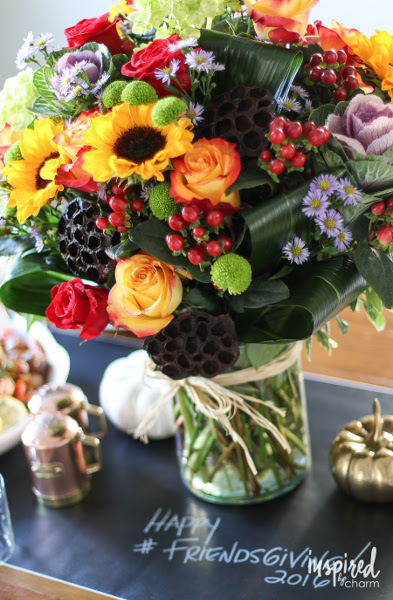Friendsgiving Flower Centerpiece