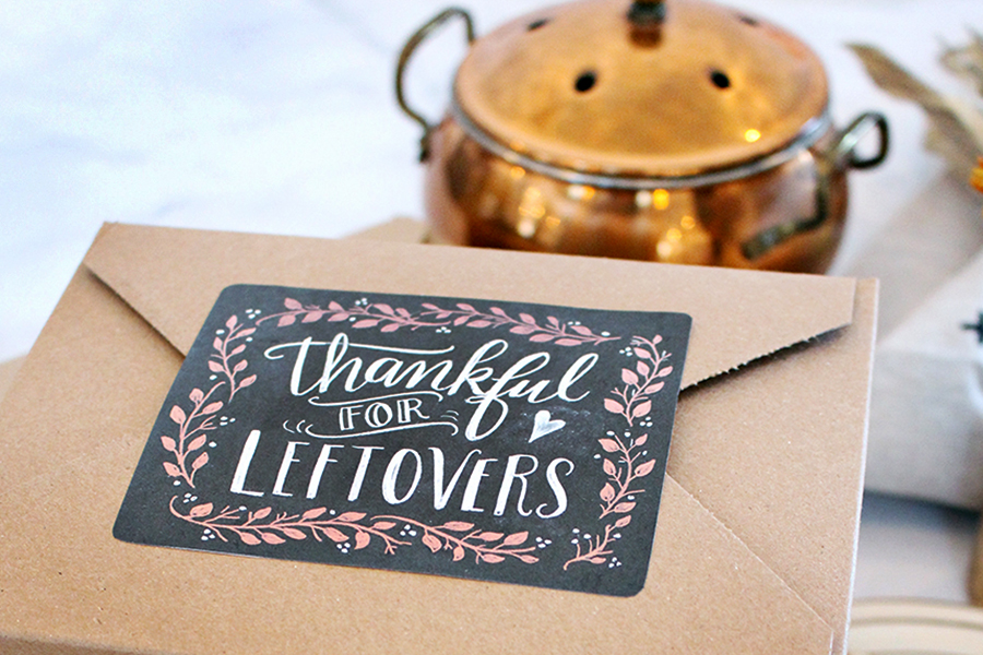 Thanksgiving Leftovers Chalkboard Labels