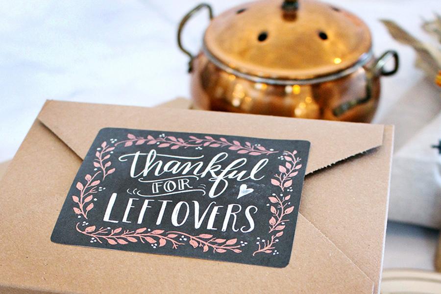 Thanksgiving Leftovers Chalkboard Labels