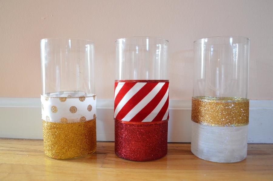 glitter-vases