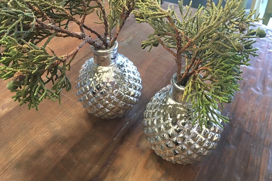 Silver Ornament vases