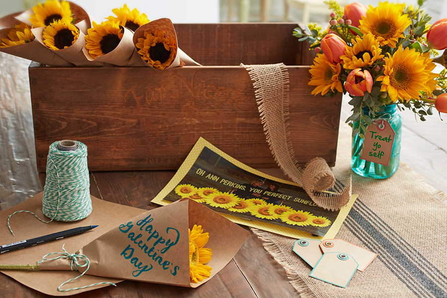 Galentine's Day Sunflower DIY