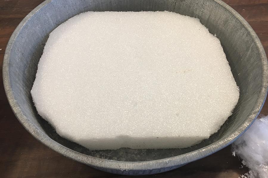 Styrofoam in Bin