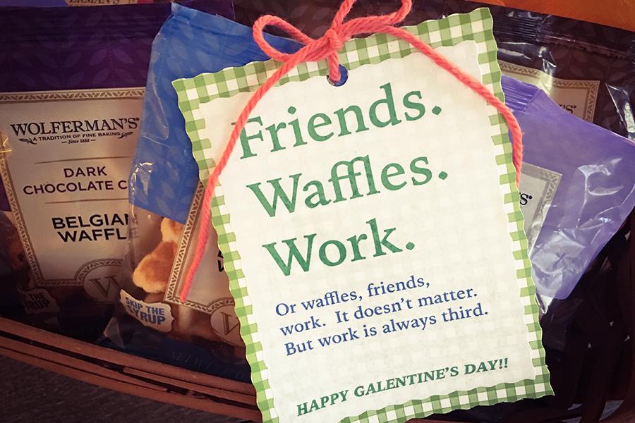 Waffles DIY Gift Tag