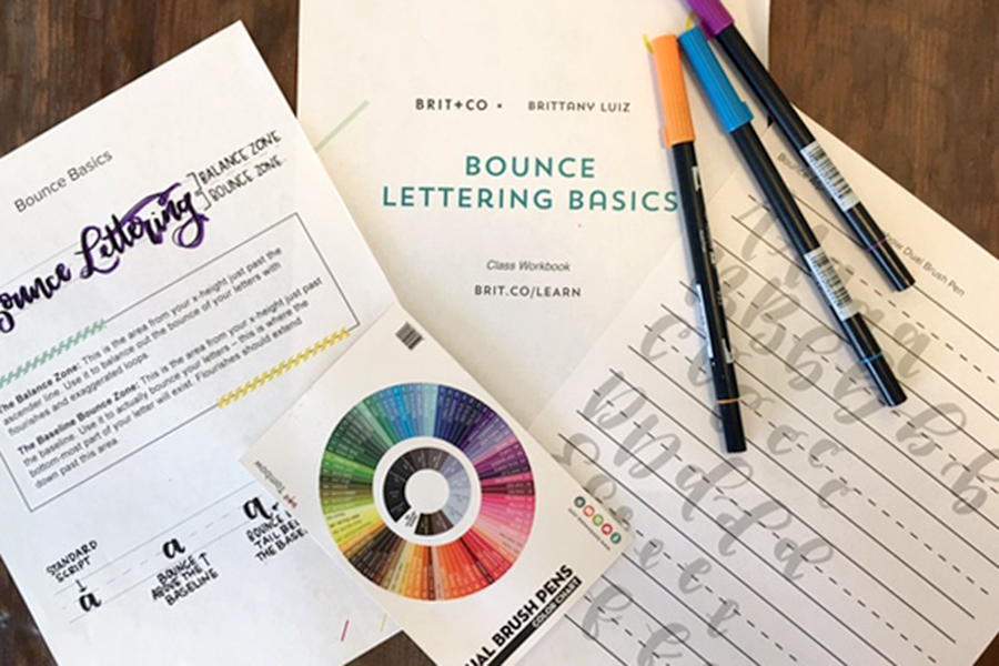 Bounce Lettering Class Materials