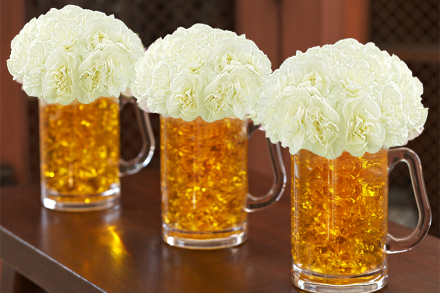 How to Make Beer Mug Flowers for St. Patrick\'s Day | Petal Talk