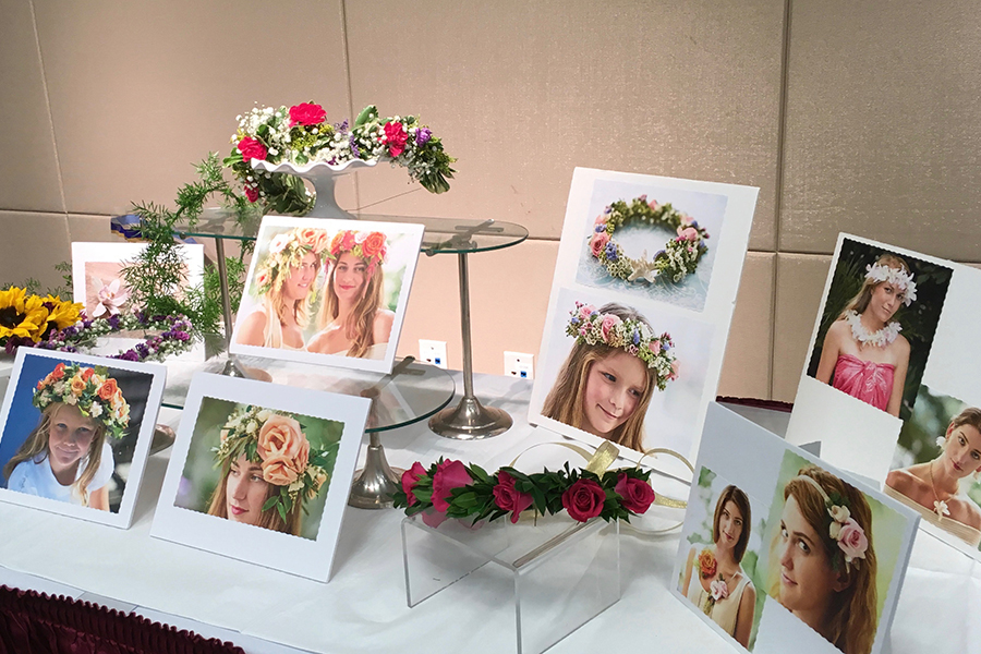 Flower Crown Display Table