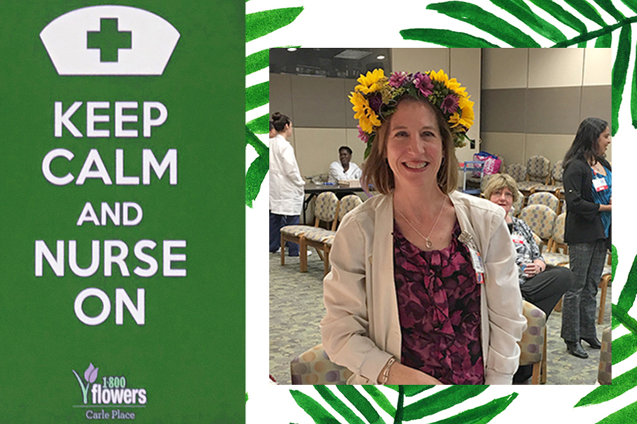 Keep Calm and Nurse On Flower Crown