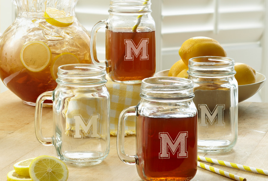 Personalized Mason Jar Glasses