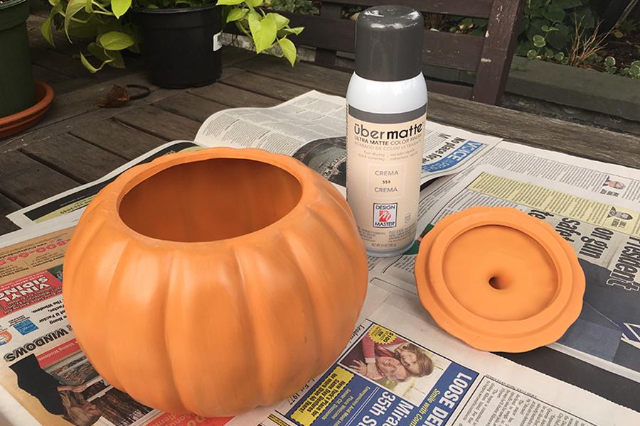 Ceramic Pumpkin Container