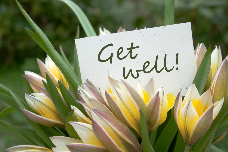 rather than wracking your already stressed brain for the right words try penning some of these messages in your get well soon card