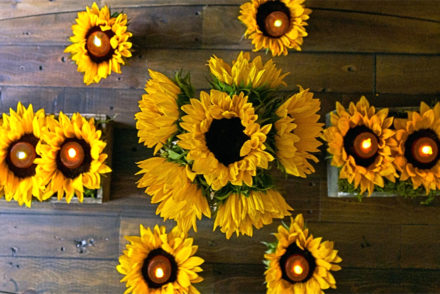 DIY Sunflower Votive Candle Holder