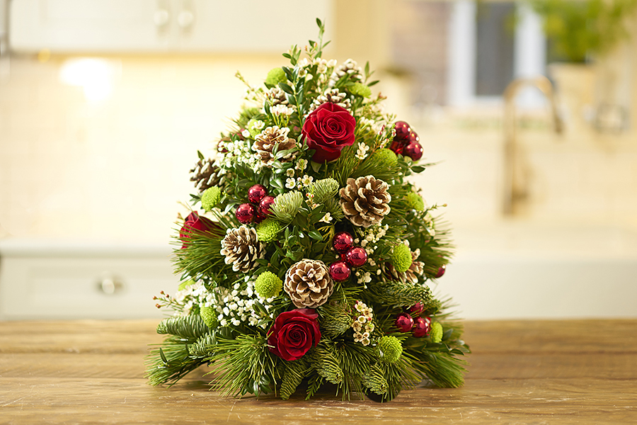 DIY Holiday Flower Tree