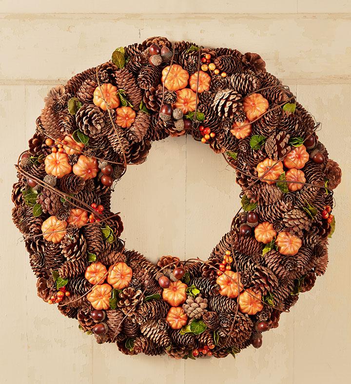 pumpkin fall wreaths