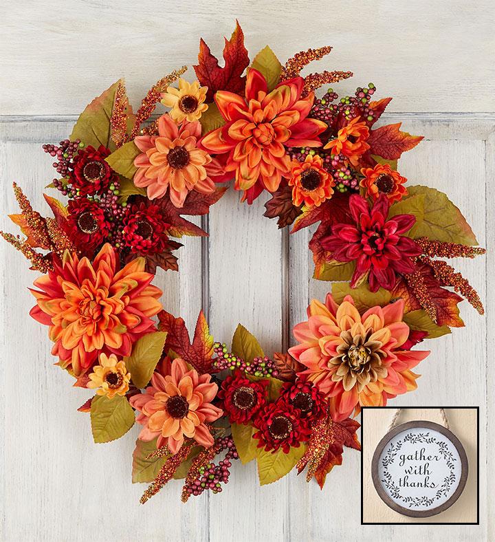dahlia fall wreaths