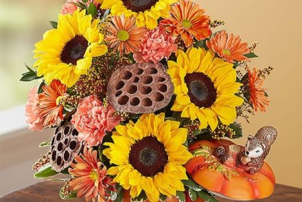 pumpkin spice flower bouquet