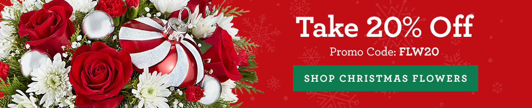 Shop Christmas Flowers & Get 20% Off!