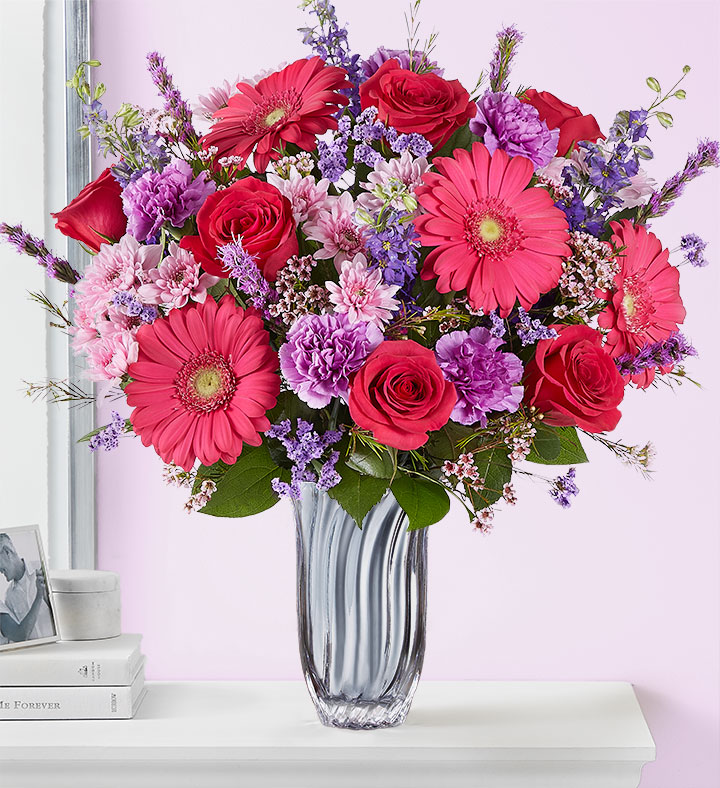 valentine's day mixed flower bouquet