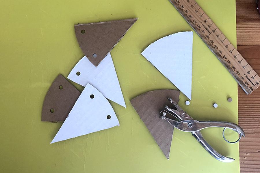 Cardboard cutouts for DIY Memorial Day garland