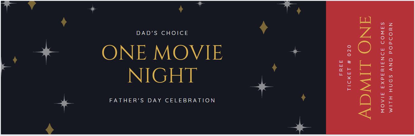 Movie night coupon