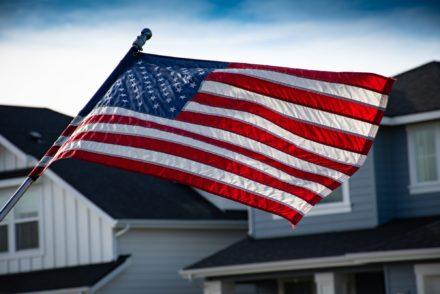 American Flag Outside