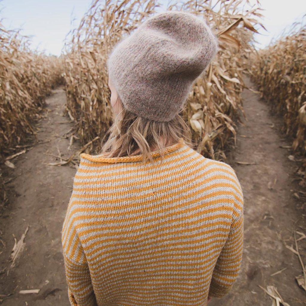 Girl in corn maze