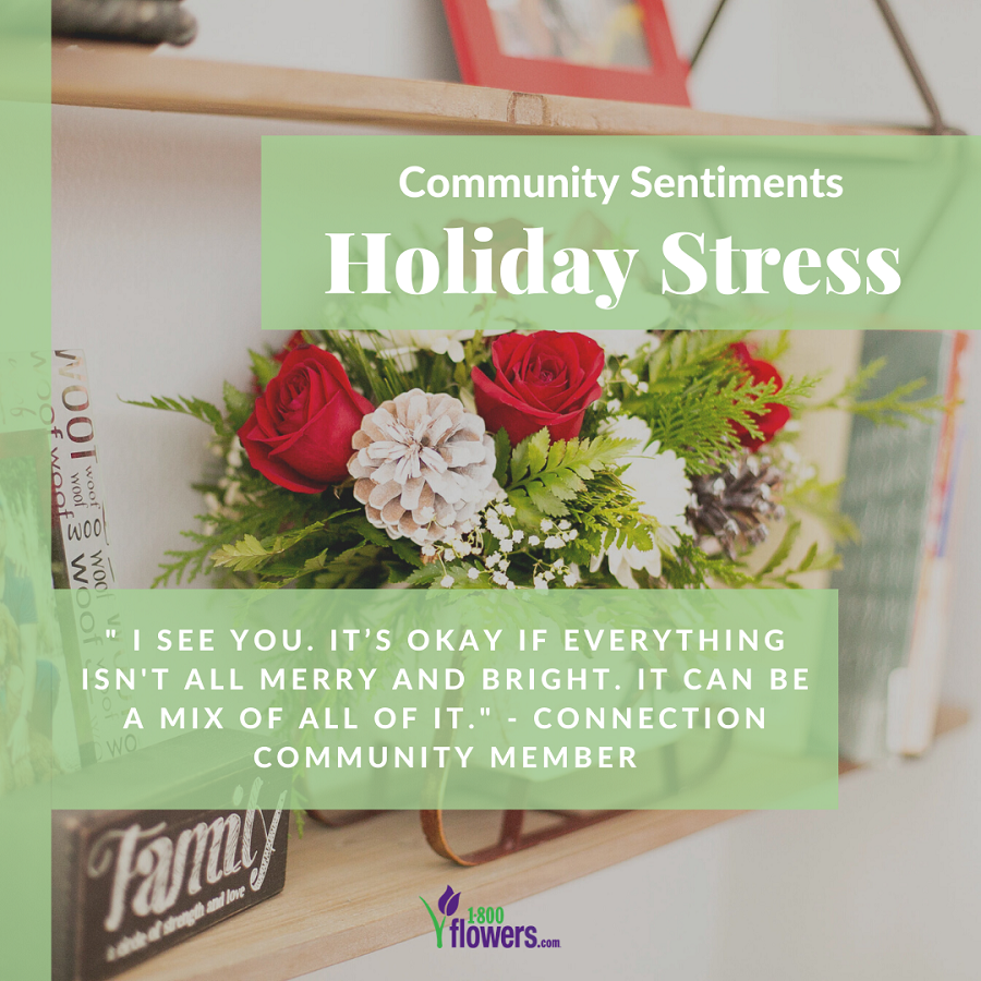 Holiday stress tips from community