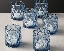 Blue glass votives